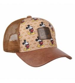 Gorra Premium Mickey marrón
