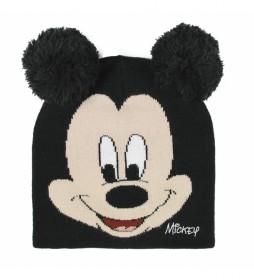 Gorro con aplicaciones Mickey negro