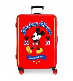 Maleta mediana Mickey rígida 68cm The one roja 70L / -48x68x26cm-