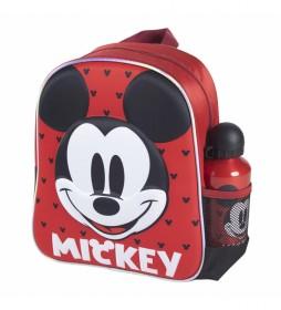 Mochila Infantil 3d  Mickey rojo -25x31x10cm-