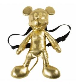 Mochila Peluche Mickey dorado -18x40x15cm-