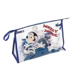 Neceser con set de aseo Mickey azul -23x15x8cm-
