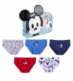 Pack 5 Calzoncillos  Mickey multicolor
