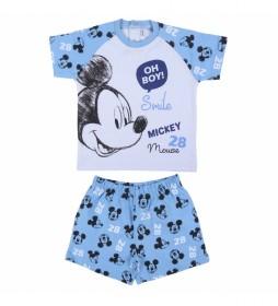 Pijama Corto Single Jersey azul