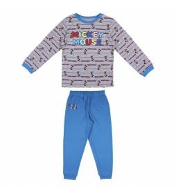 Pijama Mickey gris