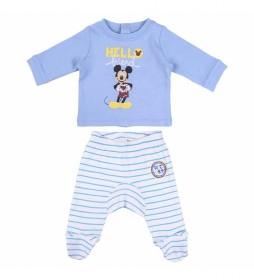 Polaina Interlock Mickey azul