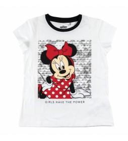 Camiseta Corta Premium Single Minnie blanco, rojo