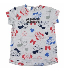 Camiseta Corta Single Jersey Minnie gris, rojo, azul