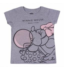 Camiseta  Minnie gris