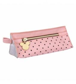 Estuche/portatodo Plano Minnie rosa -20.5x8x7,5cm-