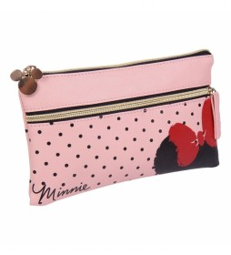 Estuche/portatodo Plano Minnie rosa -22.5x13x0.5cm-