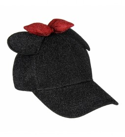Gorra Baseball Brillante Aplicaiones Minnie negro
