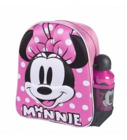 Mochila Infantil 3d Minnie rosa -25x31x10cm-