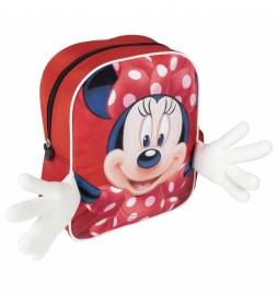 Mochila Aplicaciones Minnie rojo -25x31x10cm-