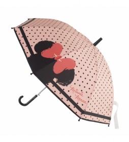 Paraguas Minnie rosa -48 cm-