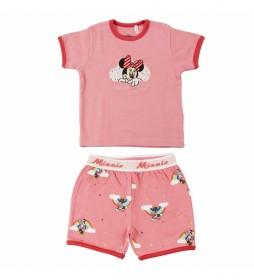Pijama Corto Rib Minnie rosa