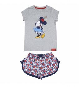 Pijama Corto Single Jersey gris