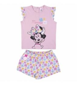 Pijama Corto Single Jersey Minnie rosa