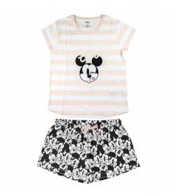 Pijama Corto Single Jersey Minnie blanco