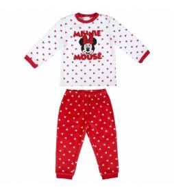Pijama largo Velour Minnie rojo