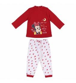 Pijama Minnie rojo