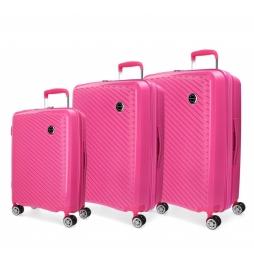 Juego de maletas Movom Tokyo Fucsia rígidas 55-66-78cm