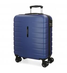 Maleta de cabina rígida Movom Turbo azul -55x39x20cm-