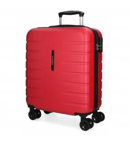 Maleta de cabina rígida Movom Turbo roja -55x39x20cm-