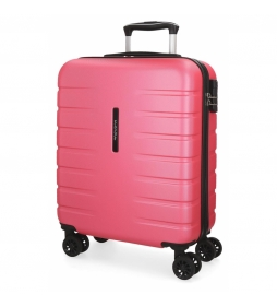Maleta de cabina rígida Movom Turbo rosa -55x39x20cm-