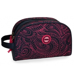 Neceser Movom Paisley doble compartimento adaptable a trolley -16x26x12cm-