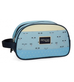 Neceser Movom Wink Azul doble compartimento adaptable a trolley -16x26x12cm-