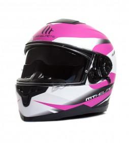 MT Helmets MT Lynx SV capacete branco fosco, preto, rosa