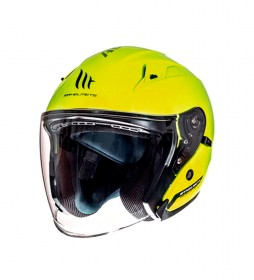 MT Helmets Casco jet MT Avenue SV Solid amarillo
