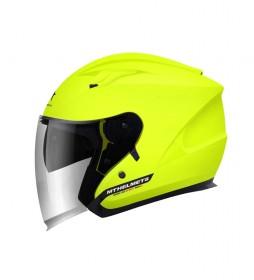 MT Helmets Jet helmet MT Boulevard yellow fluorine