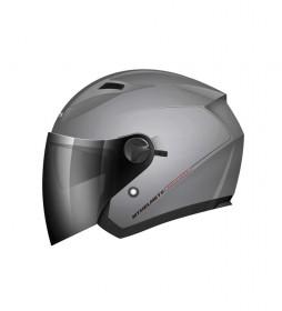 MT Helmets Capacete Jet MT Boulevard titânio