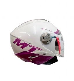 MT Helmets Jet helmet MT City Eleven smart lila