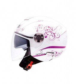 MT Helmets Casco jet MT City Eleven SV Bella blanco, lila