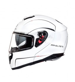 MT Helmets Casco modular MT Atom blanco