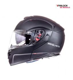 MT Helmets MT casque modulaire Atom SV solide -Pinlock noir mat de cadeau-