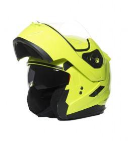 MT Helmets Casco modular MT Flux amarillo flúor