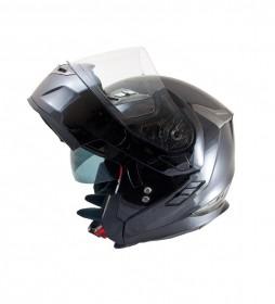 MT Helmets Casco modular MT Flux negro brillo