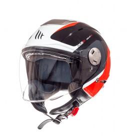 MT Helmets Jet helmet MT City Eleven SV Spark C1 red pearl