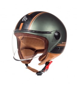 MT Helmets Casco jet MT Street Entire I2 marrón, verde
