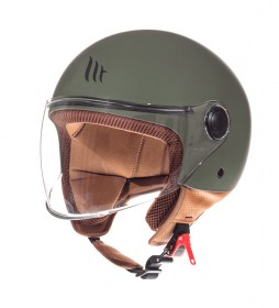 MT Helmets Casco jet MT Street Solid A6 verde mate