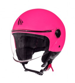 MT Helmets Casco jet MT Street Solid A8 rosa brillo