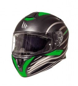 MT Helmets Casco integral MT Targo Doppler A2 verde fluor mate