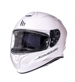 MT Helmets Casco integral MT Targo Solid A0 blanco perla brillo