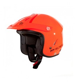MT Helmets Casque d'essai MT Trial Tr-One orange fluor