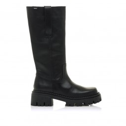 Botas de piel Skware negro - Altura tacón 5cm -