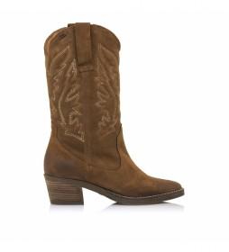 Botas de piel Ares marrón -Altura tacón: 5 cm-
